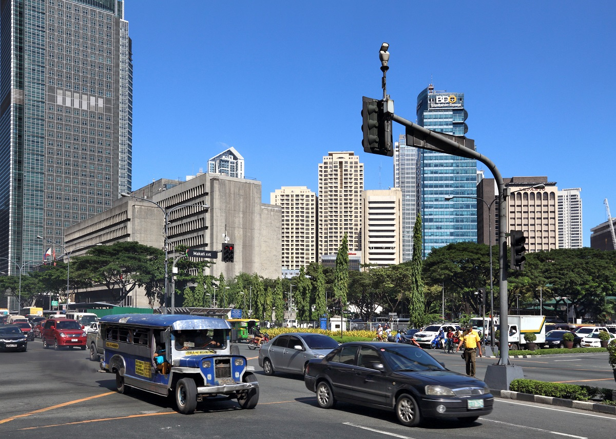 Ayale Avenue in Business District of Manila