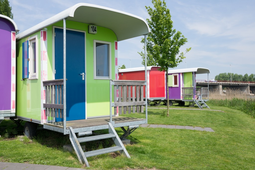 Colorful mobile homes a different twist in accomodation