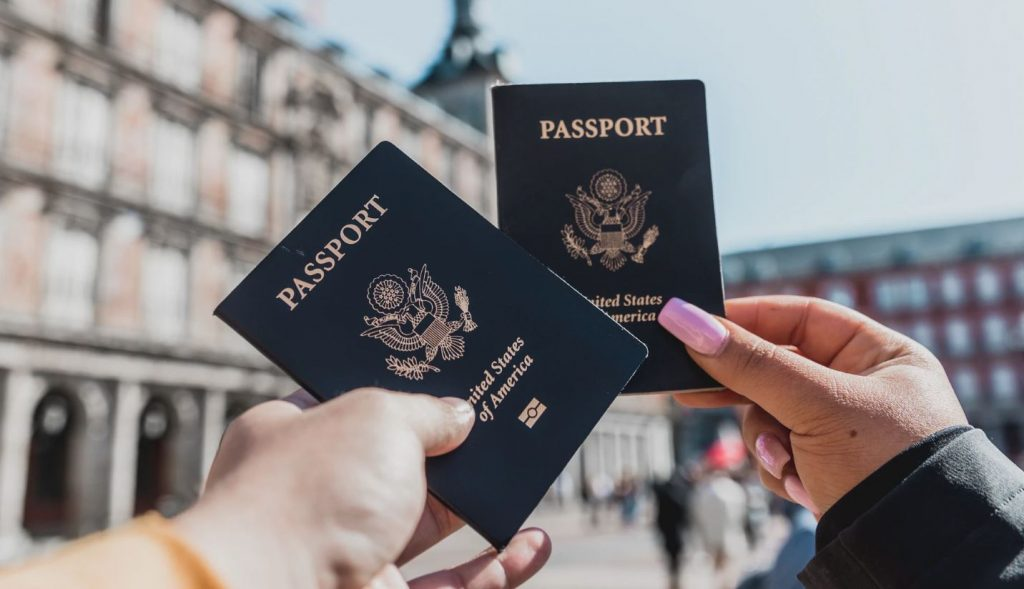 holding passport